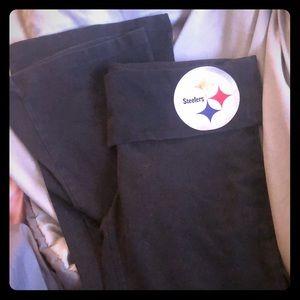Pittsburgh Steelers VS Pink Foldover Yoga Pants